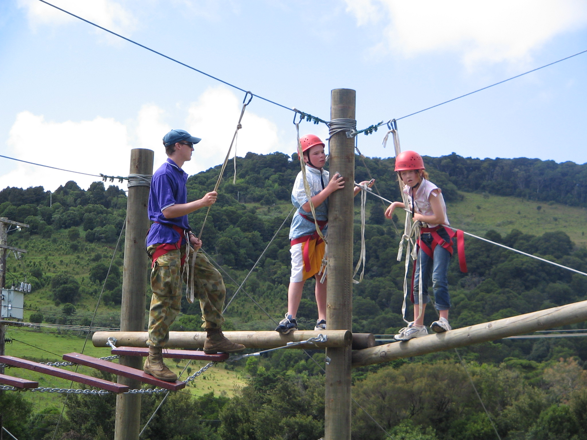kids on the high ropes
